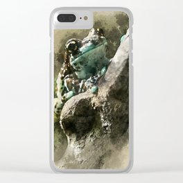 Blue tree frog Clear iPhone Case