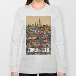 Copenhagen Facades Long Sleeve T-shirt