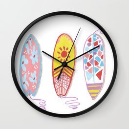 I am on surfing mood Wall Clock