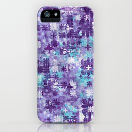 Purple Grime Foral iPhone Case