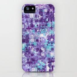 Purple Grime Foral iPhone Case