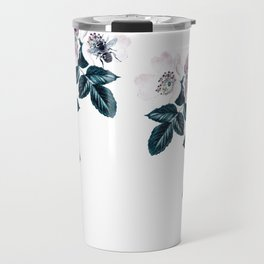 Blackberry Spring Garden - Birds and Bees Floral III Travel Mug
