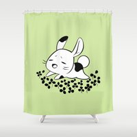 clover Shower Curtains featuring Clover Field by Freeminds