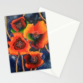 Cosmic Poppies Stationery Cards