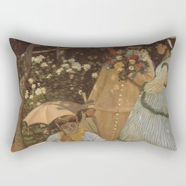 Monet- Women in the Garden, nature,Claude Monet,impressionist,post-impressionism,painting Rectangular Pillow