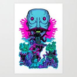 Mega Face Master Art Print