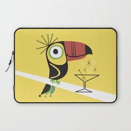 Swank Mid Century Modern Toucan Tiki Bird With Martini Laptop Sleeve