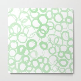 Watercolor Circle Sage Metal Print