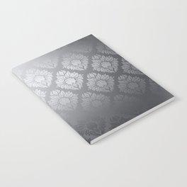 """""""Neutral gray Damask Pattern"""" Notebook"""