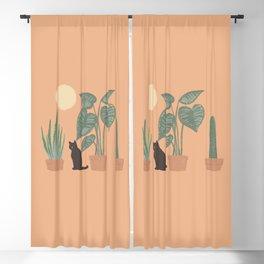 Hidden cat 10 plants good day Blackout Curtain