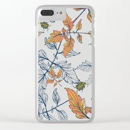 Tomatoes leave in Pantone 2019-2020 Clear iPhone Case