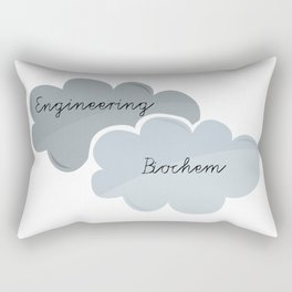 """I'm Engineering. She's Biochem."" Rectangular Pillow"