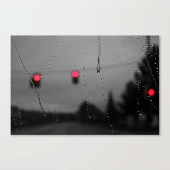 Red Lights Ahead Canvas Print