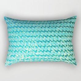Mermaid Waves and Sea Foam, Sun Light over the Ocean Rectangular Pillow