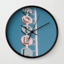 Retro Motel Sign Wall Clock