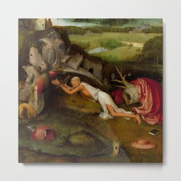 "Hieronymus Bosch ""Saint Jerome at prayer"" Metal Print"