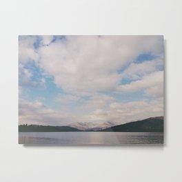 clouds over lake windermere. lake district, uk Metal Print