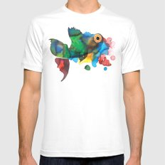 colorful fish White MEDIUM Mens Fitted Tee