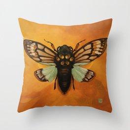 Summer Songster Throw Pillow