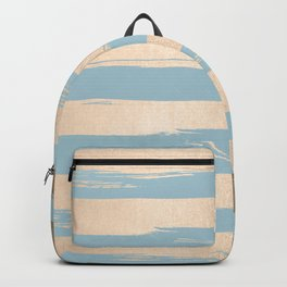 Painted Stripes Gold Tropical Ocean Sea Blue Backpack