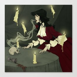 The Séance Canvas Print