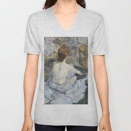 """Henri de Toulouse-Lautrec """"Rousse (La Toilette)"""" Unisex V-Neck"""