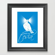 Friend of Tesla Framed Art Print