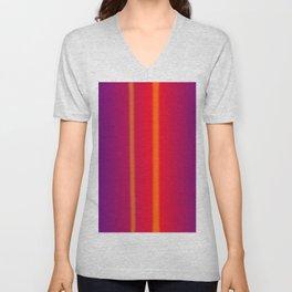 orange verticals Unisex V-Neck