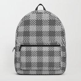 Dark Grey Buffalo Plaid Backpack