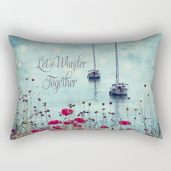 Let's Wander Together Rectangular Pillow