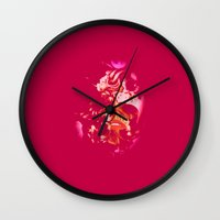 ruby Wall Clocks featuring Ruby by The Rogue Iris