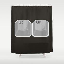 Escape Control Shower Curtain