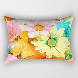Simone #painting #floral Rectangular Pillow