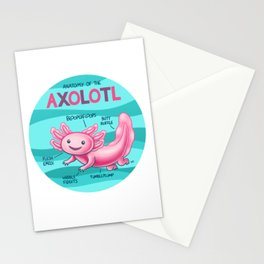 Anatomy of the Axolotl Stationery Cards