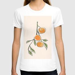 Modern Minimalist Mandarins T-shirt
