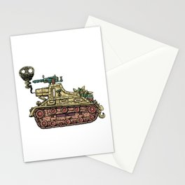 African desert corps tank WWII Stationery Cards