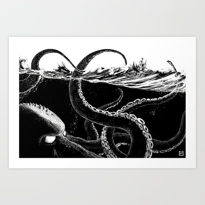Kraken Rules the Sea Kunstdrucke