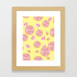 fruit infusion pattern Framed Art Print