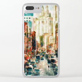 Winter in Chinatown - New York Clear iPhone Case