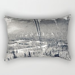 Cable Cars to the Summit of Sulphur Mountain Rectangular Pillow