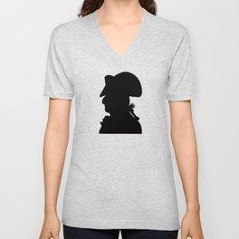 Pirate silhouette Unisex V-Neck