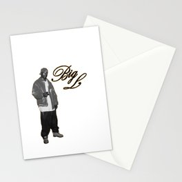 Big L //Black&White Stationery Cards