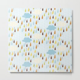 Colourful Rain Metal Print