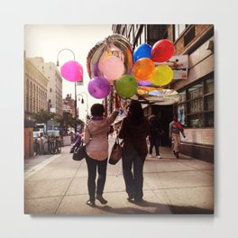 Balloons on 14th Street Metal Print