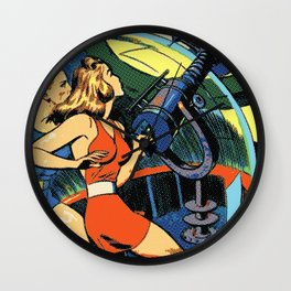 Comic Girl - 5 Pop Wall Clock