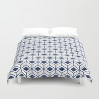 indigo Duvet Covers featuring INDIGO by KIND OF STYLE