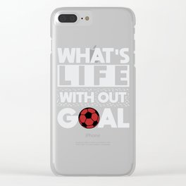 soccer footballer soccer district league goal Clear iPhone Case