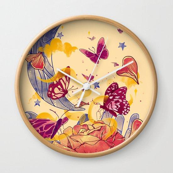 Papillon Ache Wall Clock