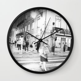 lisboa -noite Wall Clock