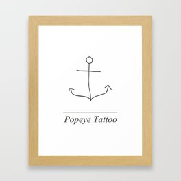 Popeye Tattoo Framed Art Print